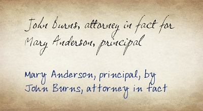 Attorney In Fact Principal