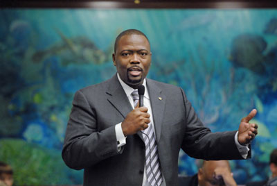 Reggie Fullwood is dropped from a Florida ballot after Notary errors on election paperwork.