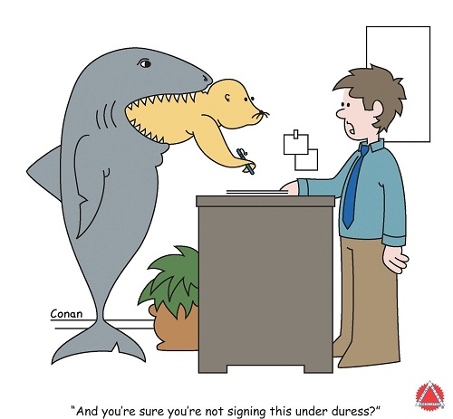 Shark Week Notary Seal Under Duress