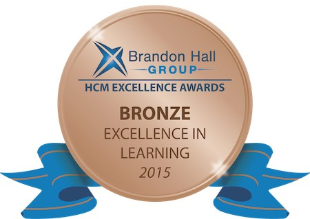 2015 Brandon Hall Group award given to the National Notary Association for Excellence in Learning