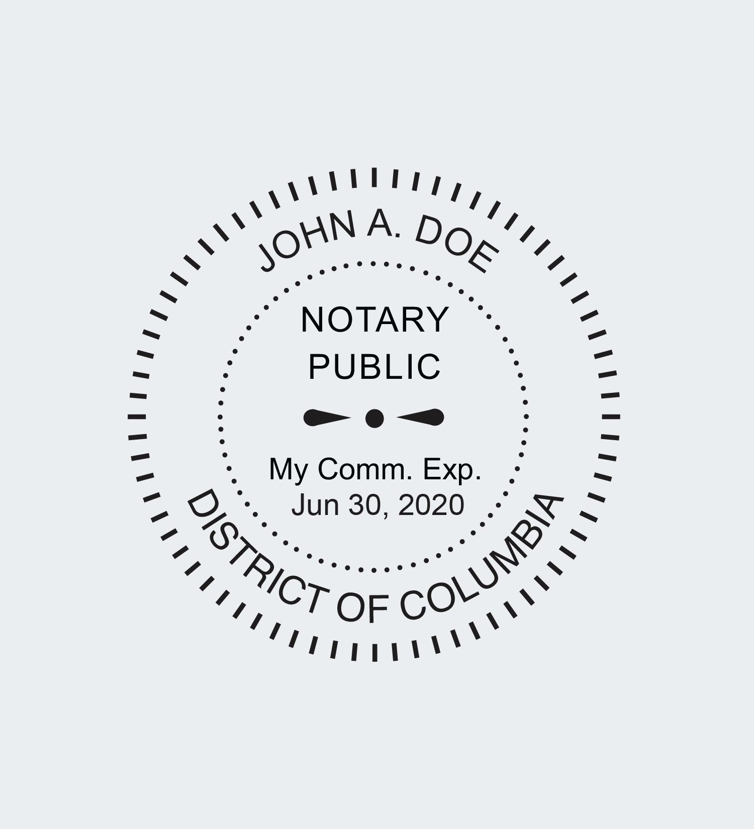 Washington Dc Notary Seals Nna