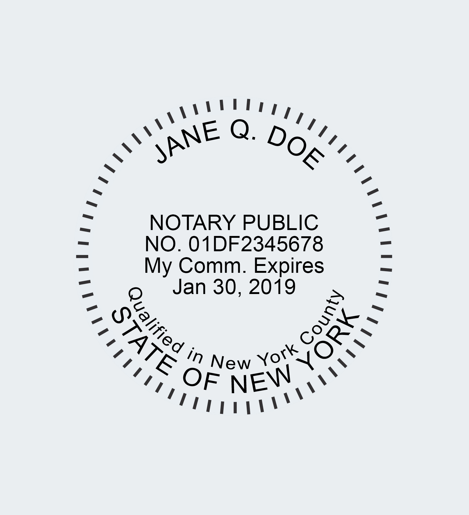 New York Round Seal Impression