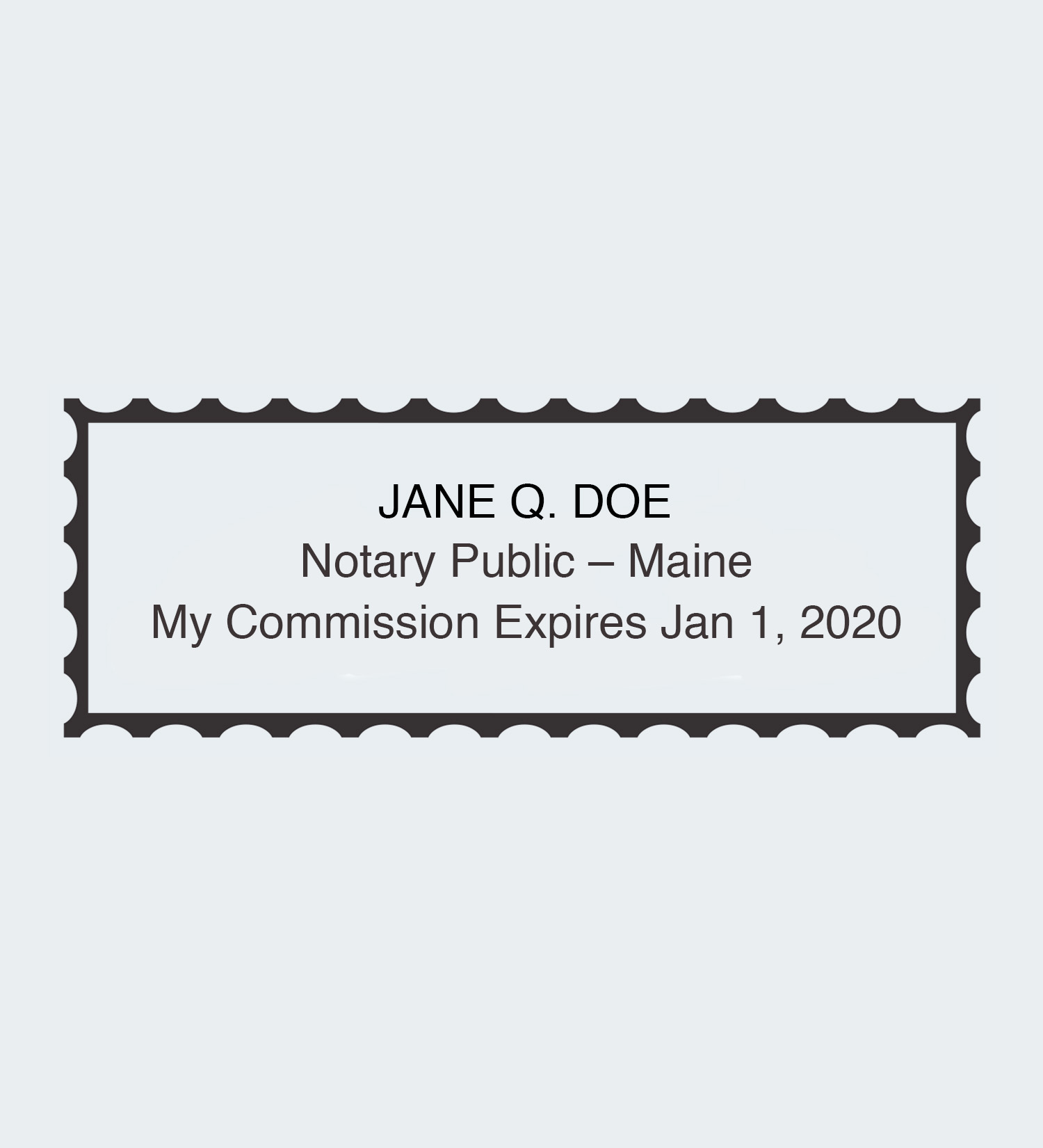 Maine Rectangular Seal Impression Notary Public How To Become