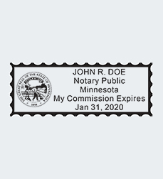 Minnesota Stamp Impression