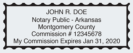 Sample Arkansas Notary Seal Impression