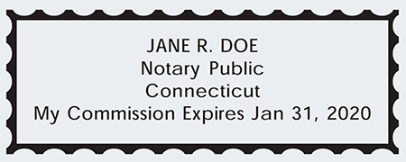 Connecticut Notary Seal Impression