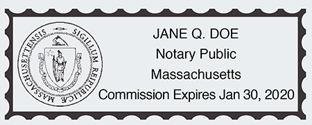 Notary Seal Stamp Impression MA
