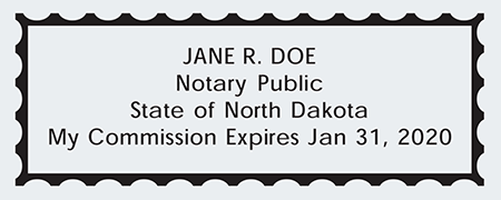 Sample North Dakota Seal Impression