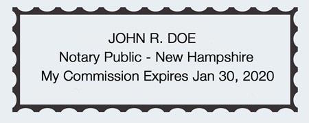 Sample New Hampshire Seal Impression