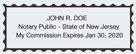 Sample New Jersey Seal Impression