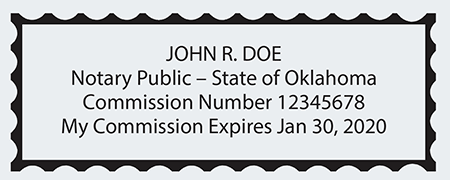 Sample Oklahoma Seal Impression