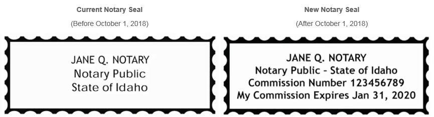 New 2018 Notary Stamp Requirements In Idaho