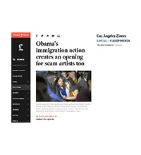 Obama's immigration action creates an opening for scam artists too