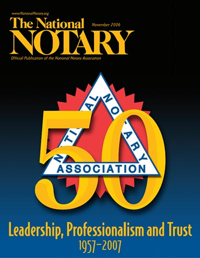 The National Notary - November 2006