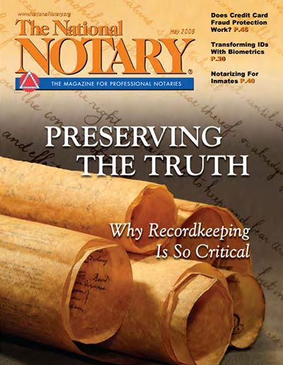 The National Notary - May 2008