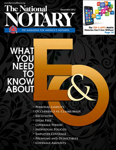 The National Notary - November 2012