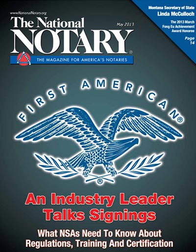 The National Notary - May 2013