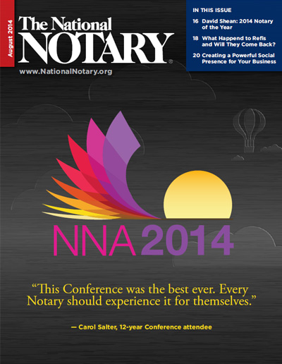The National Notary - August 2014