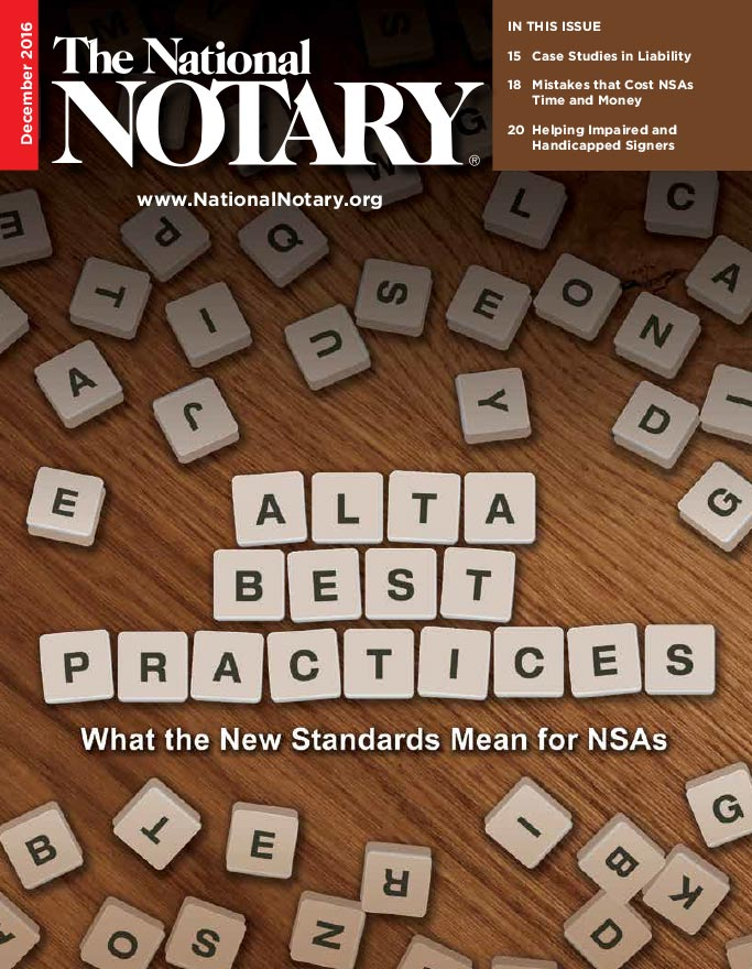 The National Notary - December 2016
