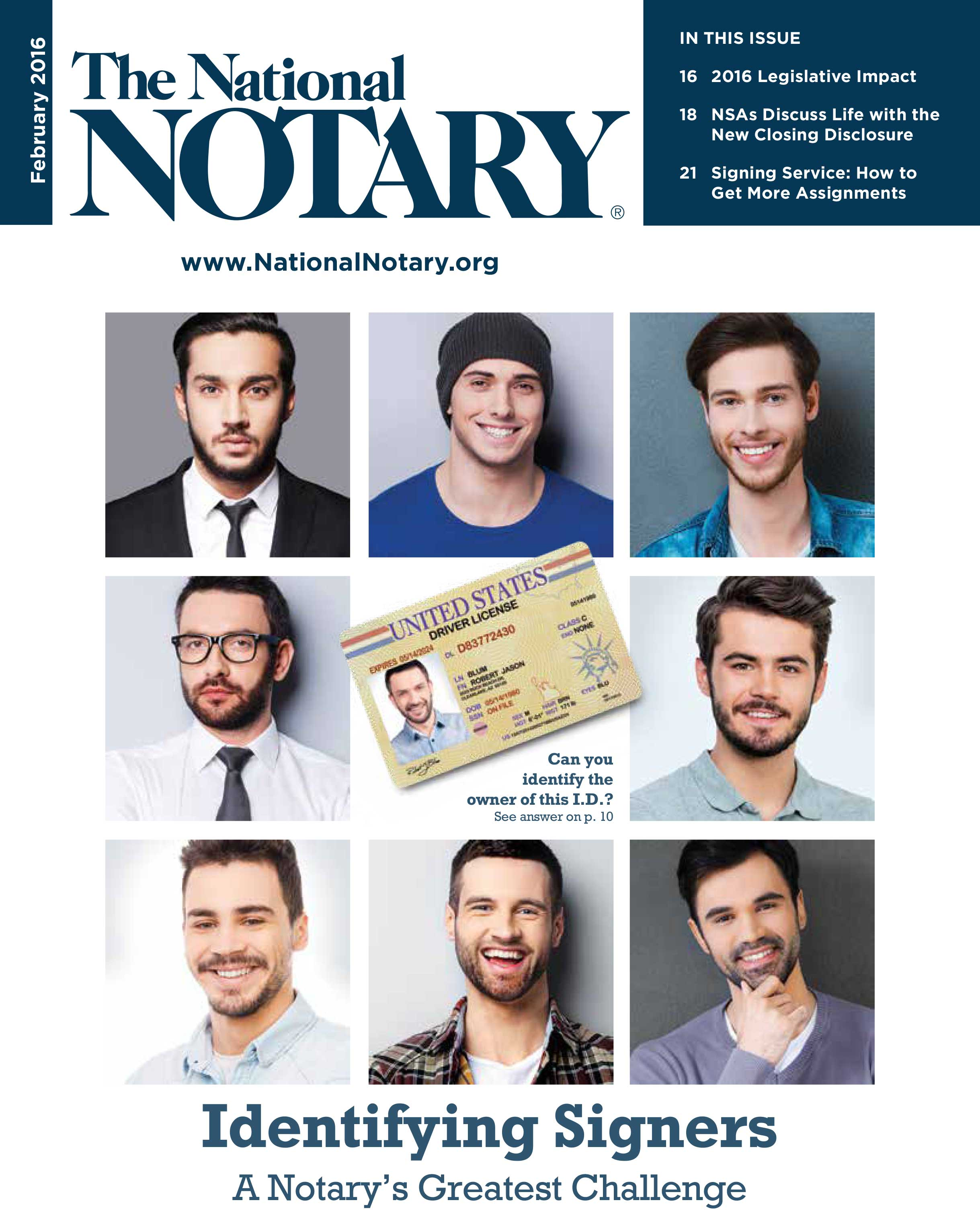 The National Notary - February 2016
