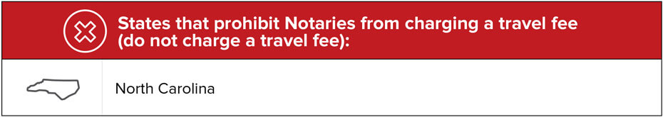 Where Travel Fees are Prohibited