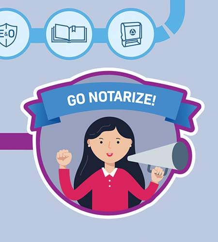 Detail of an infographic on how to become a Notary