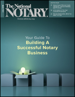July 2018 cover of The National Notary