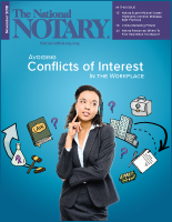 November 2018 cover of The National Notary