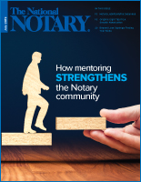 July 2019 cover of The National Notary