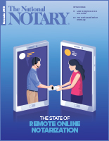 November 2019 cover of The National Notary