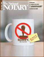 September 2019 cover of The National Notary