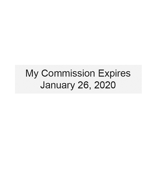 Commission-Date Stamp