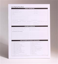 Loan Signing Prep Sheets