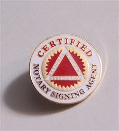Certified Notary Signing Agent Lapel Pin