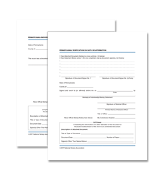 PA Acknowledgment and Verification on Oath or Affirmation Certificate Bundle
