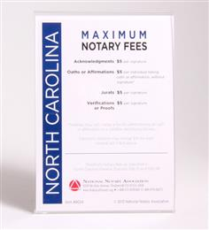 North Carolina Fee Schedule & Frame