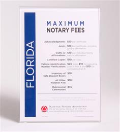 Florida Fee Schedule & Frame