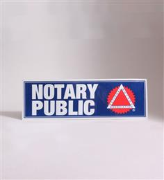 Notary Public Window Cling Signs