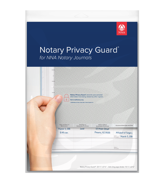 Notary Privacy Guard® Cling