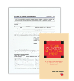 CA Acknowledgment Certificates and Primer Bundle
