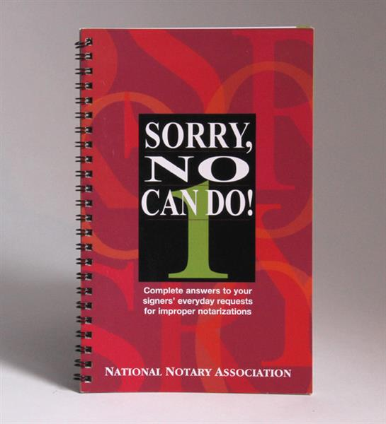 Sorry No Can Do! 1