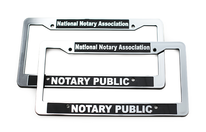 Notary Public License Plate Frame