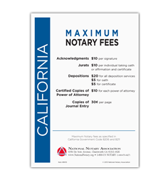 California Fee Schedule & Frame