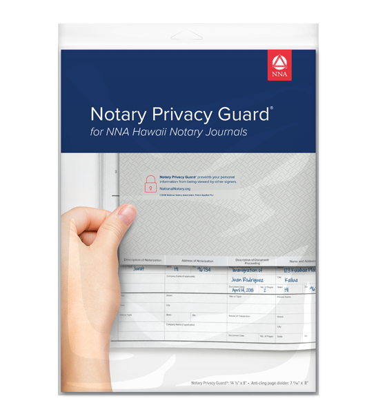 Notary Privacy Guard® - Hawaii
