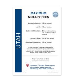 Utah Fee Schedule & Frame
