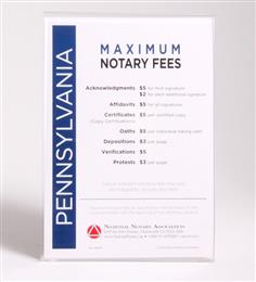 Pennsylvania Fee Schedule & Frame