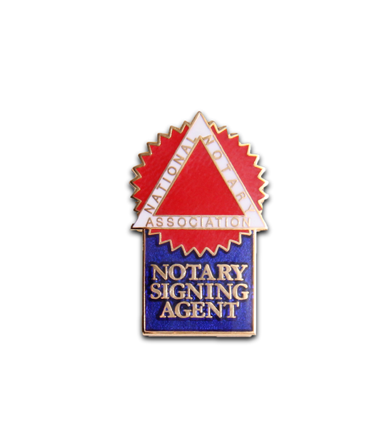 Notary Signing Agent Lapel Pin