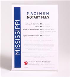 Mississippi Fee Schedule & Frame