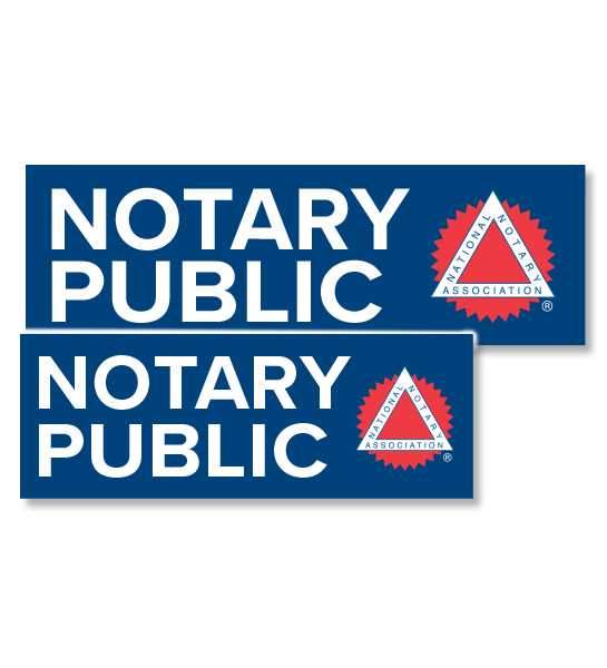 Notary Public Decal Signs