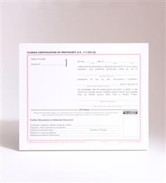 Florida Copy Certification of Photocopy